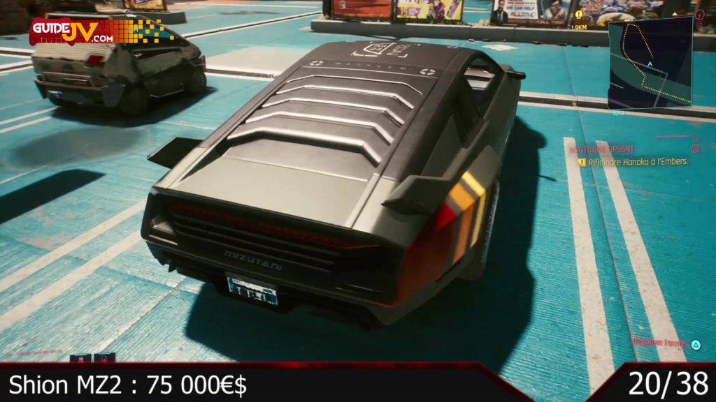 cyberpunk 2077 tous les vehicules liste voiture moto guide trophee succes ca roule